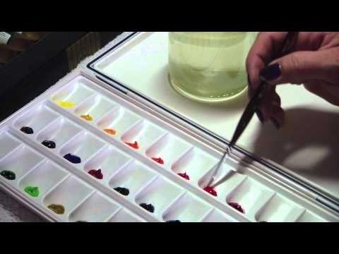▶ Ma méthode (ni très aquarelle ni très réglementaire) pour peindre à la peinture à l'eau - YouTube