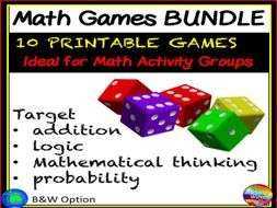 Printable Math Games for Primary Maths Centres by mareehenderson21 - Teaching Resources - Tes