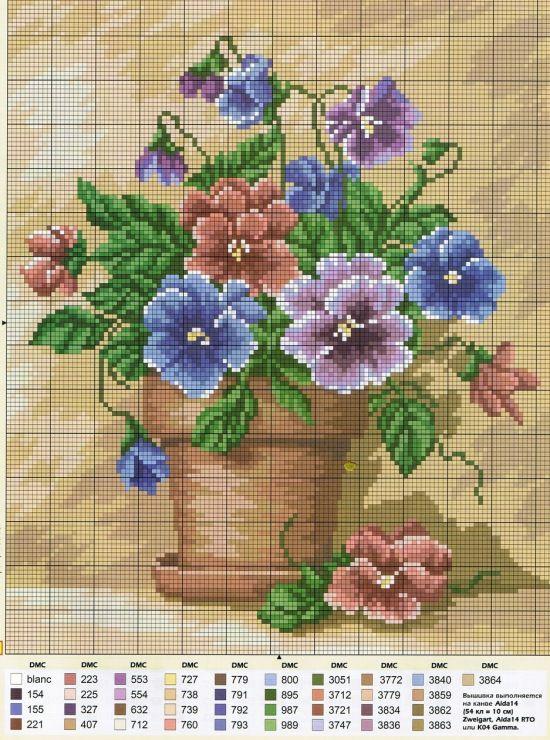 Gallery.ru / Fotoğraf # 49 - Farklı çiçek şeması - Irisha-ira