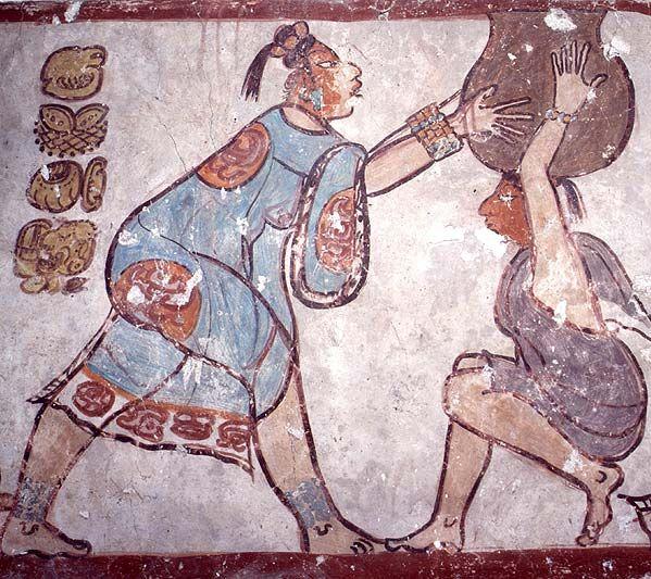 Las pinturas de los mayas tiene gran calidad estética y es una vía de estudio de la cultura maya.  Las pinturas murales más famosas del área maya son las de Bonampak, Chiapas.   Las ciudades mayas que ahora vemos de piedra desnuda estuvieron totalmente pintadas con complejos y largos murales como lo muestran los de Bonampak y Calakmul, Campeche.   Se deterioran fácilmente pero se conservan ejemplos de casi todas las épocas y regiones. Se plasmaron temas que relatan la complejidad de su…