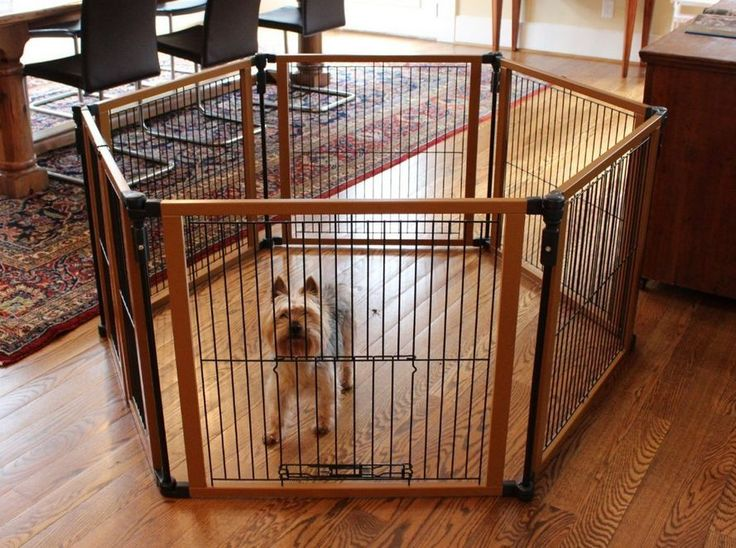 Baby pet gate free standing x large wide folding dog fence for Dog fence for inside house