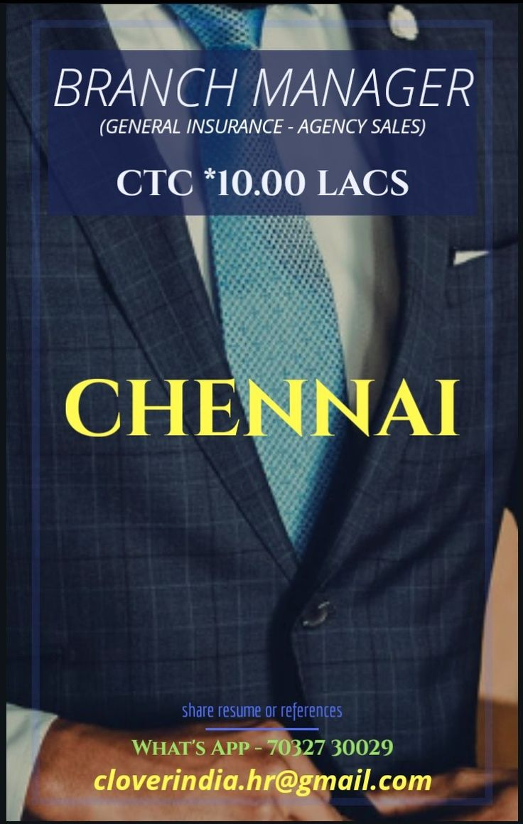 Hiring Insurance Generalinsurance Agencychannel Agencysales Teamhandling Chennai Tamilnadu Cloverindiahr Cl Job Placement Insurance Agency Placement