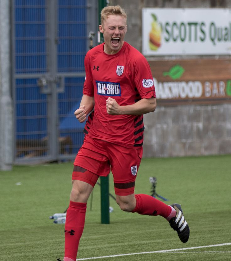Queen's Park's Ross Millen celebrates his goal during the SPFL League One game between East Fife and Queen's Park.
