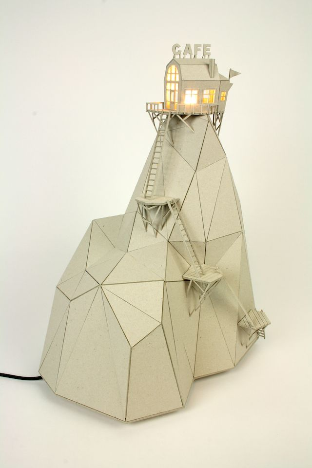 Whimsical Cardboard Lamps by Vera van Wolferen   iGNANT.de
