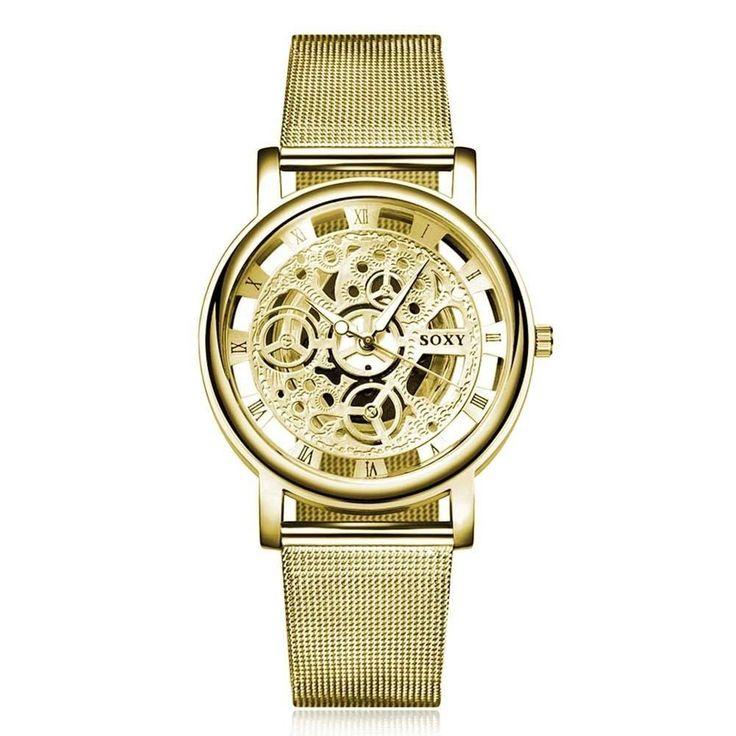 SOXY Skelett Armbanduhr Mesh Unisex Uhr  | eBay
