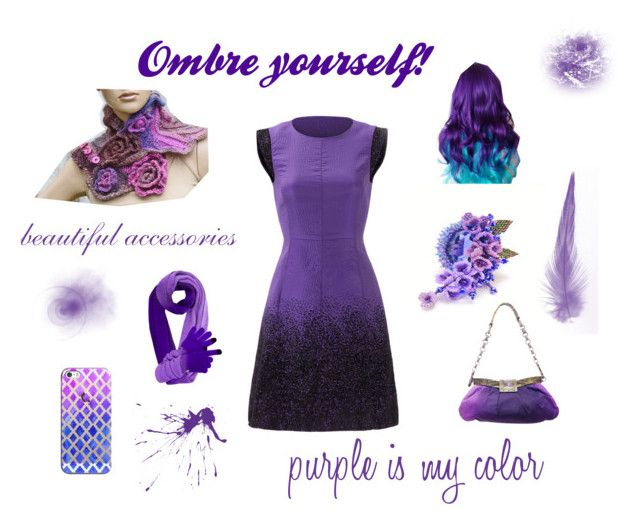 Purple ombre is my style! by marudafelting on Polyvore featuring moda, Halston Heritage, Prada and Casetify