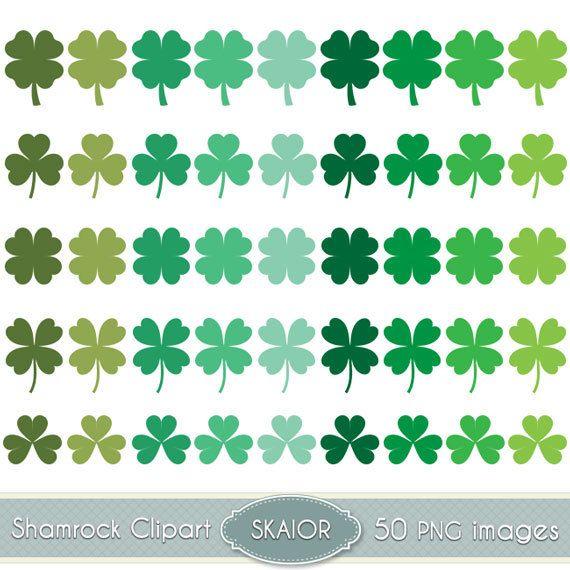Shamrock Clipart Vector Clover Clip Art St Patricks Day by skaior