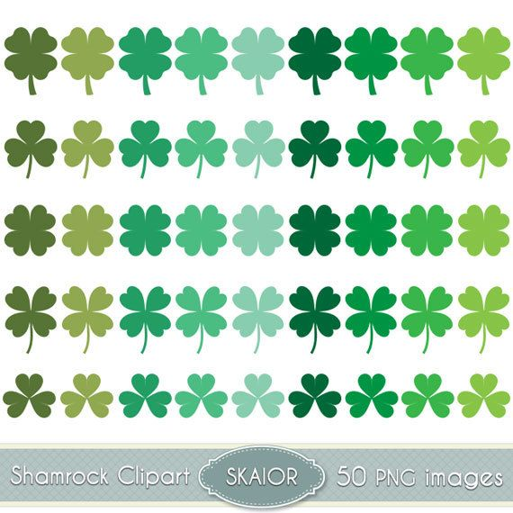Shamrock Clipart Vector Clover Clip Art St Patricks Day by skaior