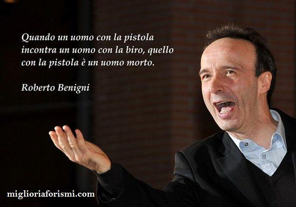 Roberto Benigni - Frasi e Aforismi