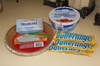 4 ingredient Butterfinger Pie