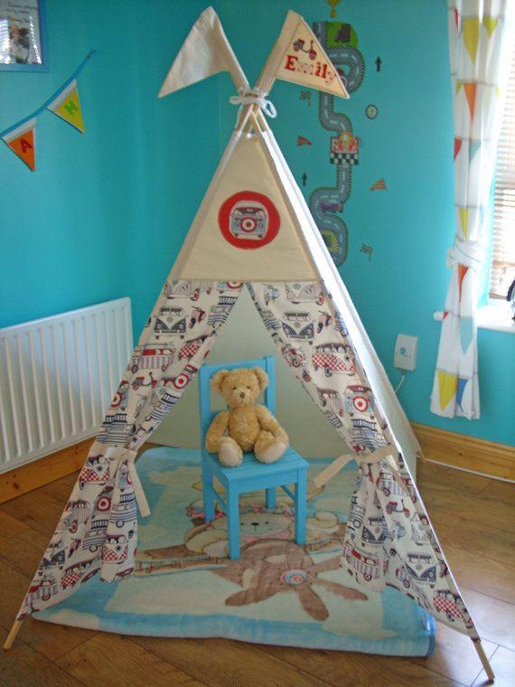 Teepee Kids Teepee Play Tent Campervans VWTipi by TheTeepeeFairy