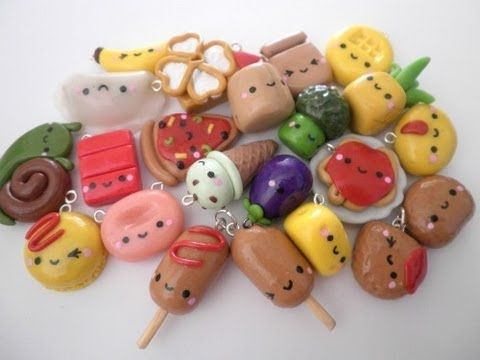 easy polymer clay charms | Polymer clay kawaii