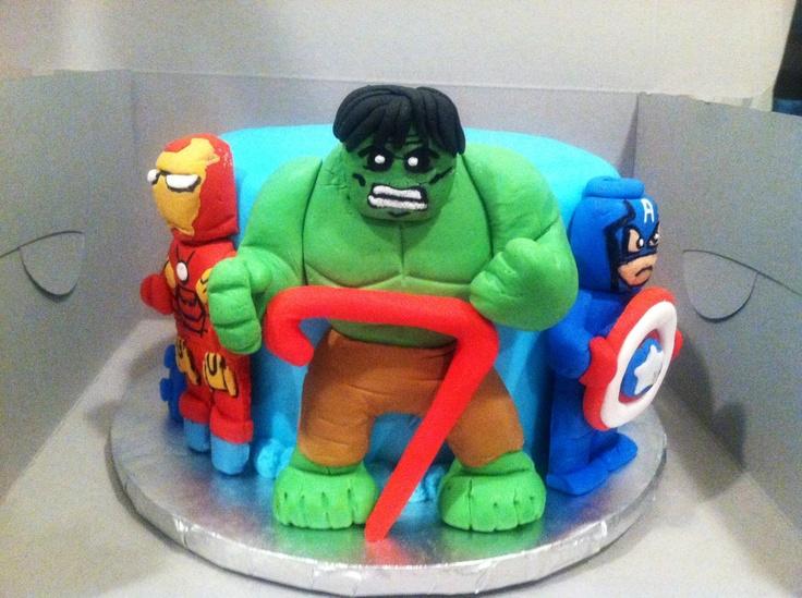 Lego Avengers Cake Marvel Gift Pinterest Lego