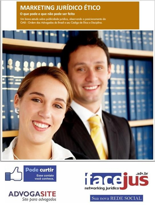 MARKETING JURÍDICO ÉTICO Ótimo conteúdo. O que pode e que não pode ser feito Departamento de MKT Jurídico JusBrasil Um breve estudo sobre publicidade jurídica, observando o posicionamento da OAB - Ordem dos Advogados do Brasil e seu Código de Ética e Disciplina.