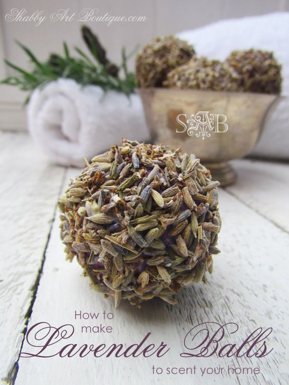 How to make homemade lavender balls - quick and easy scented home project by Shabby Art Boutique @ bHome.us