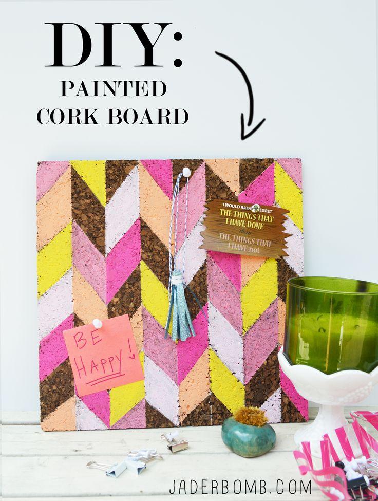 Hand Painted Cork Board @marthastewart #12monthsofmartha #jaderbomb #diy #homedecor