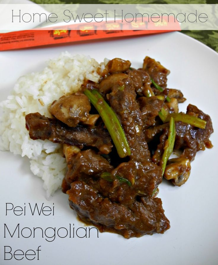 Pei Wei Mongolian Beef                                                                                                                                                                                 More