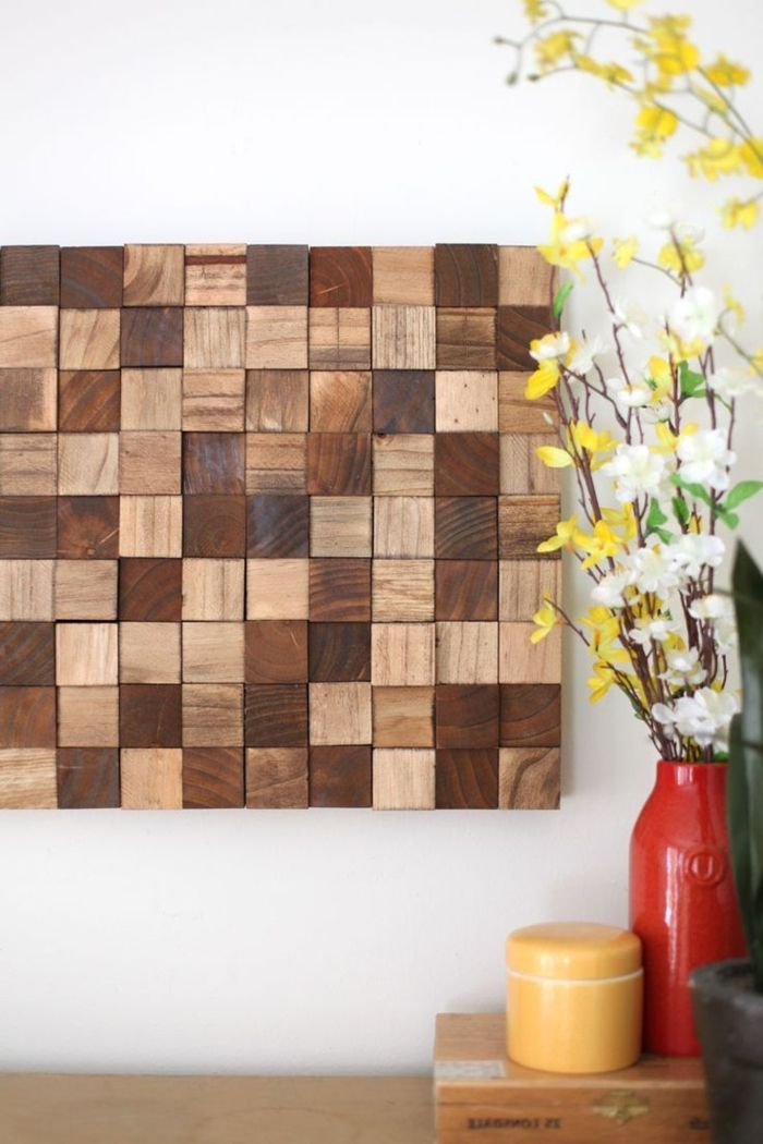 Try 14 DIY remarkable wooden wall art