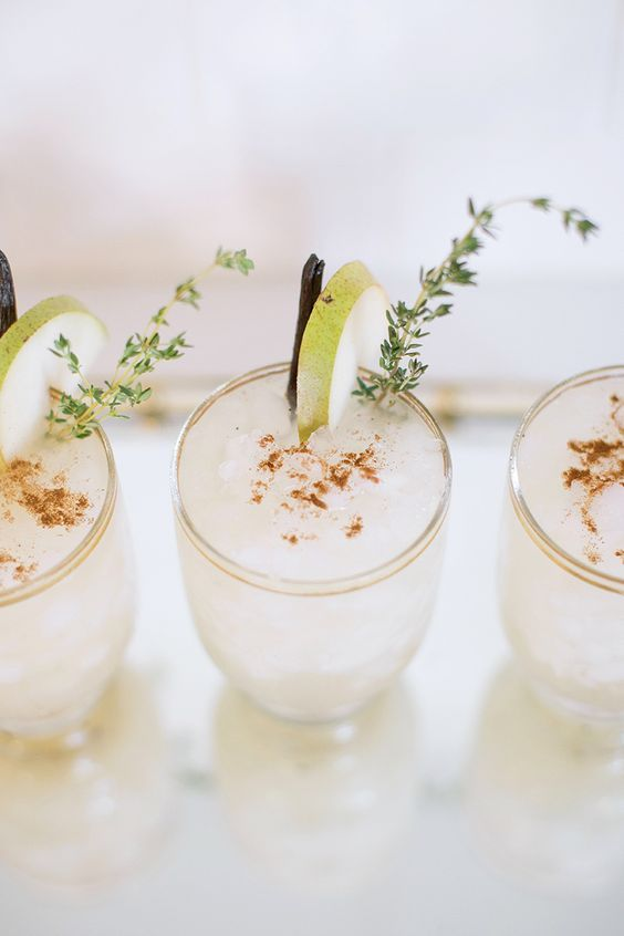 Gray Malin's sparkling spiced pear cocktail recipe.