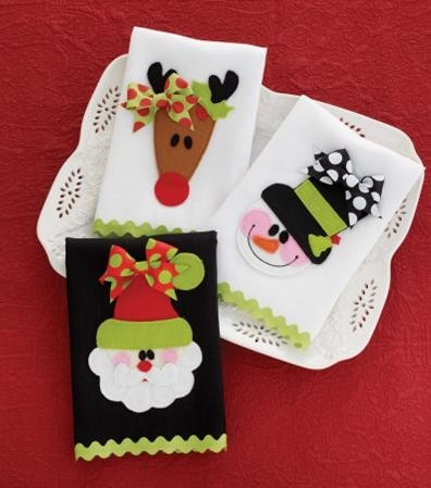 Christmas towels - the image doesn't link to the product, but you can get an idea of the applique from looking at it.