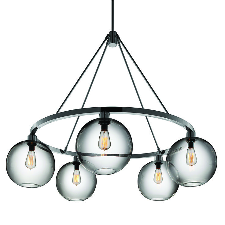 Modern On Ring Chandlier With Shades Lamps