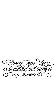 EVERY LOVE STORY 38X100CM VINYL WALL STICKER