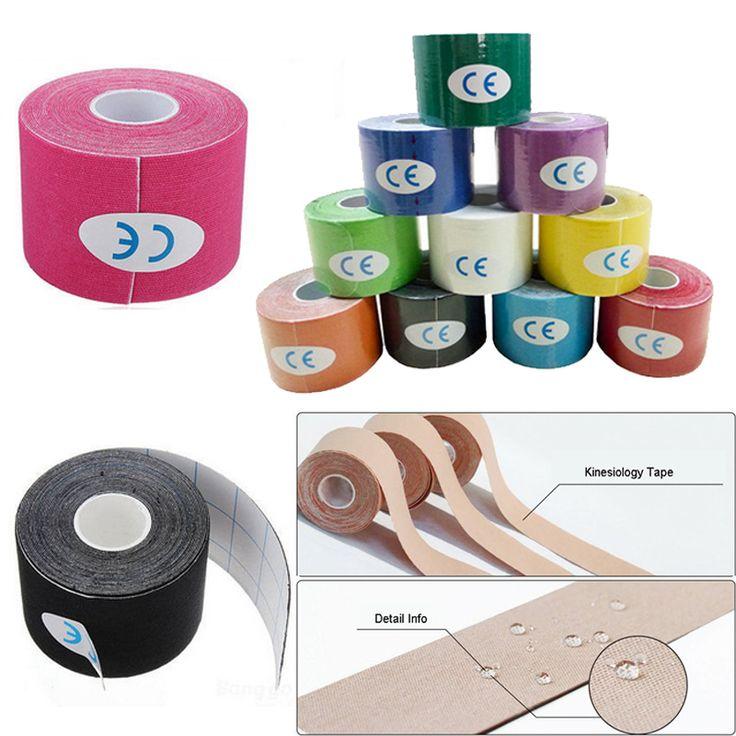 Elastische Kinesiologie Tape 5 mt X 5 cm Sport Rolle Physio Muskelzerrung Injury Unterstützung