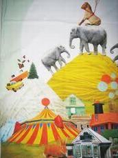 Lehrskov print sengetøj junior- circus