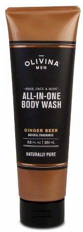 OLIVINA MEN Ginger Beer All-in-One Body Wash - 8.5oz