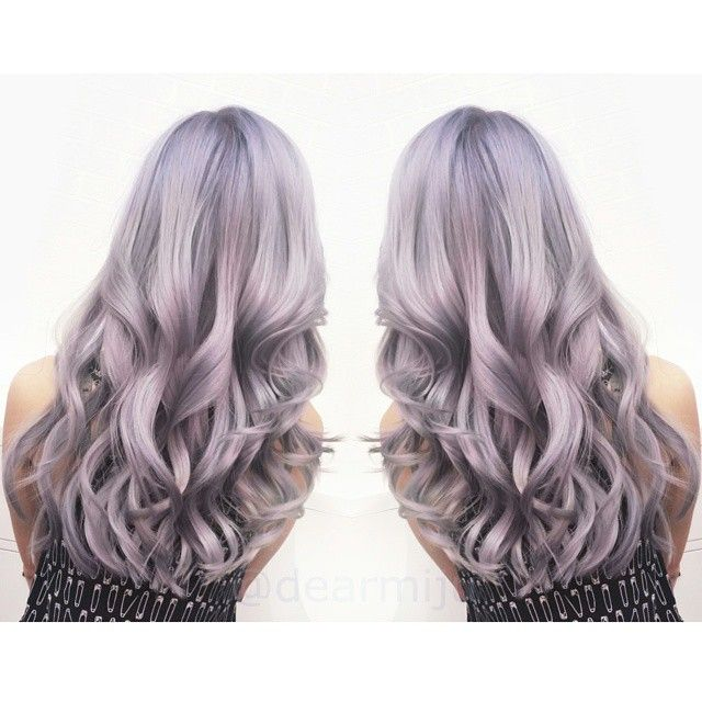 Beautiful smoky lilac color melt by Miju. Beautiful style finish, too. #hotonbeauty fb.com/hotbeautymagazine