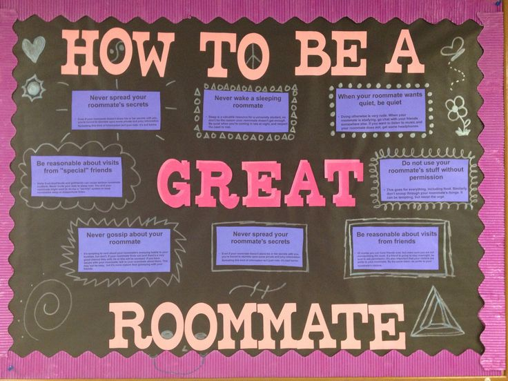 November bulletin board - How to be a great roommate