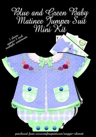 Blue and green Baby Matinee Jumper Suit on Craftsuprint - Add To Basket!