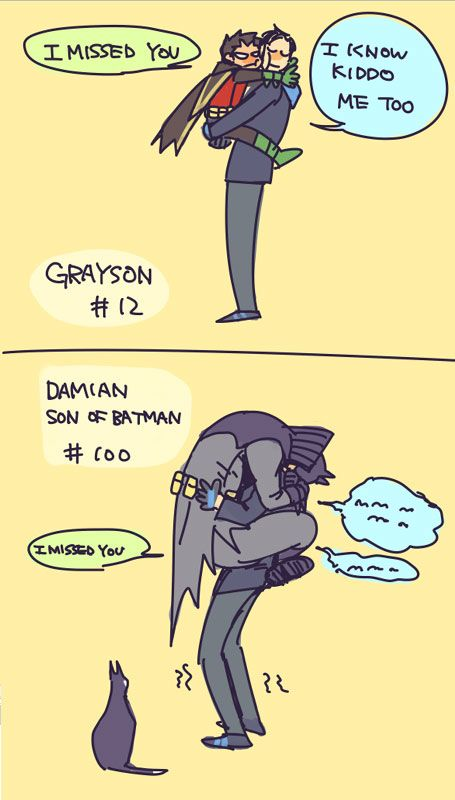 Dick Grayson and Damian Wayne.