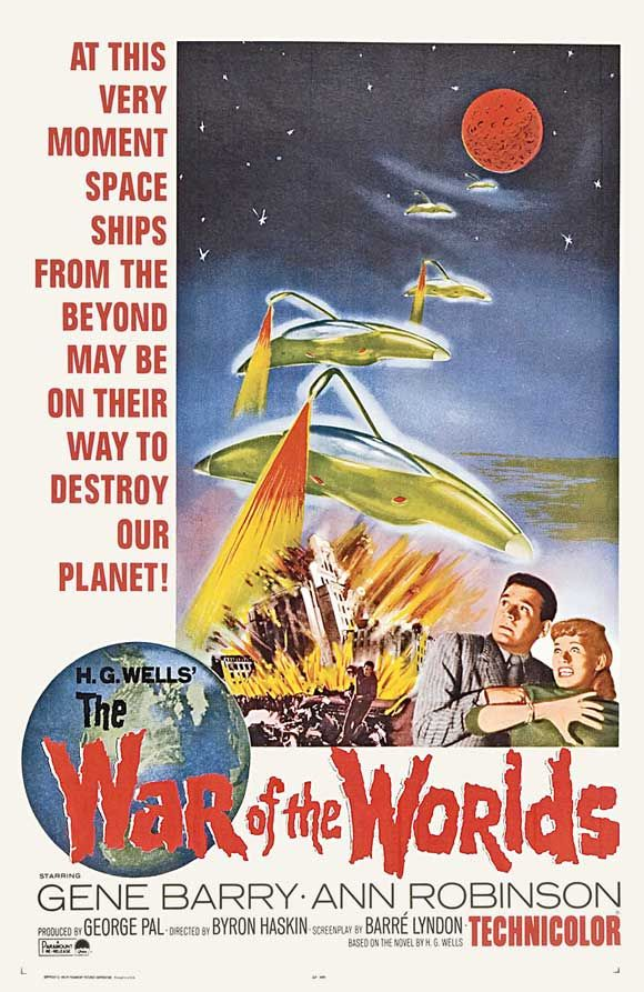 War of the Worlds (1953). I watched this movie with my Dad back when I was in high school. I would watch this over the Tom Cruise one.