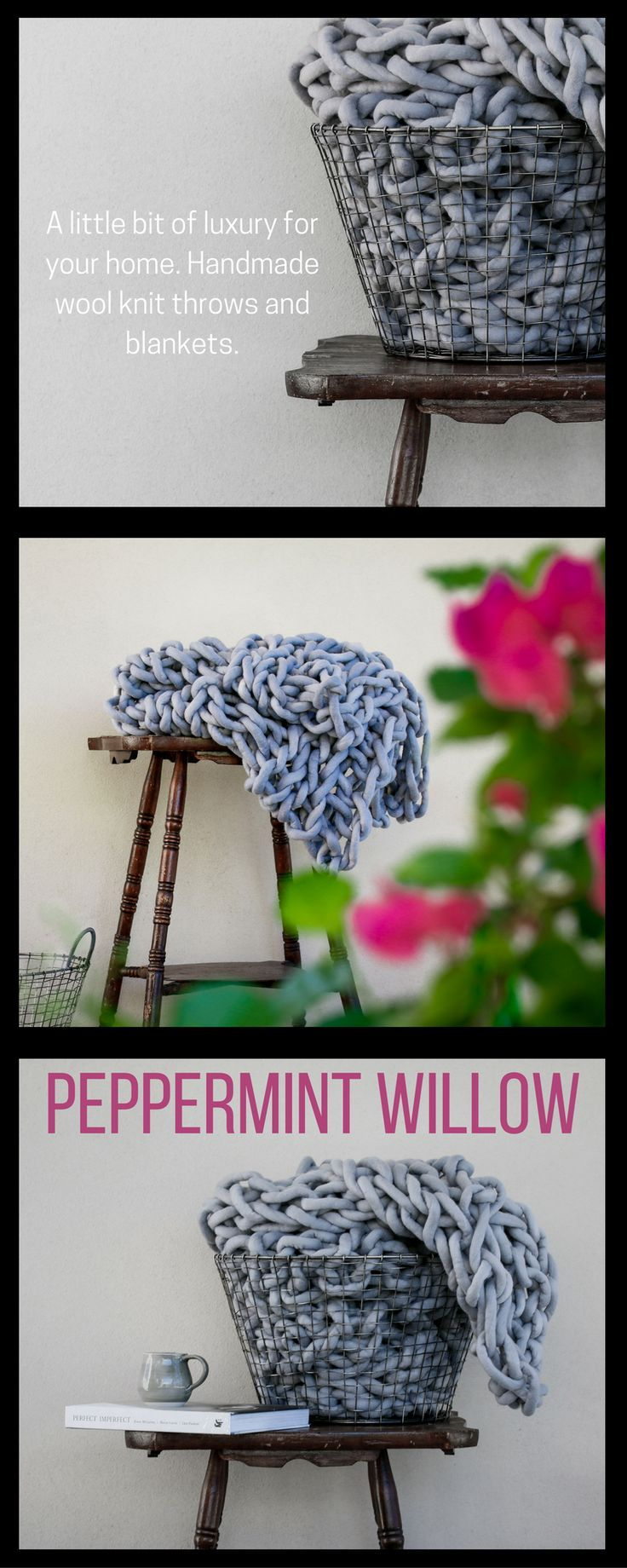 These throws are made from high quality felted Australian merino wool.