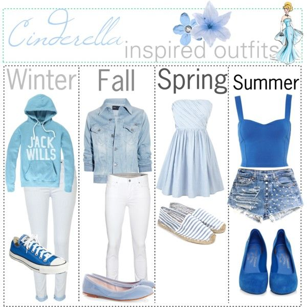 """Cinderella inspired outfits :)"" by shannonstyles on Polyvore"