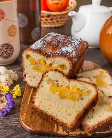 Творожный кекс с манго и яблоком