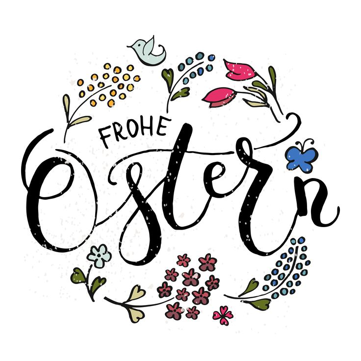 Frohe Ostern Lettering Calligraphy by Alps View Art on Creative Market – J Elle