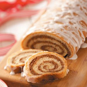 Hungarian Nut Rolls from Taste of Home: It isn't officially the holidays until I've made this treasured recipe from my husband's grandmother. The apple-walnut filling is moist, subtly sweet and flavorful. —Donna Bardocz, Howell, Michigan