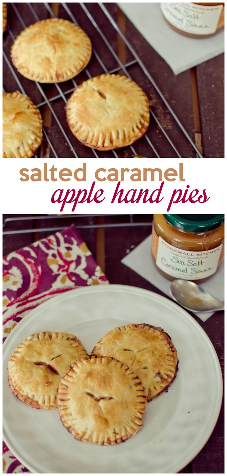 These salted caramel apple hand pies are perfect to whip after a day of apple picking when you have a few too many apples in your kitchen.