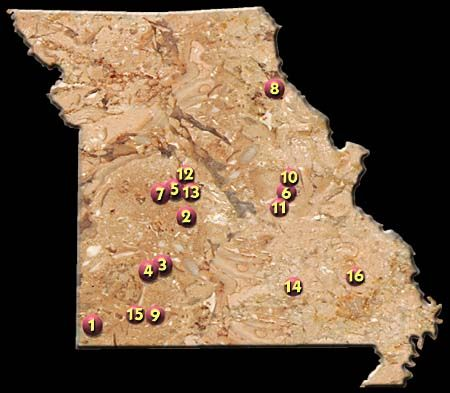 Missouri Cave Directory.  Missouri has MANY caves. Several are open to the public.
