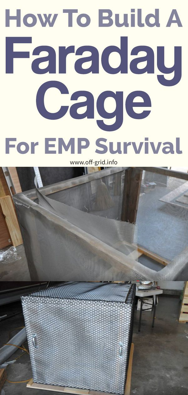 How To Build A Faraday Cage For Emp Survival Off Grid Survival Survival Skills Emp