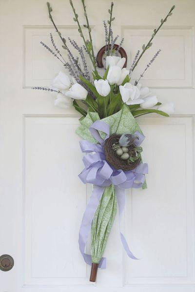 "DIY 5-Minute Umbrella ""Wreath"" - One Good Thing by Jillee"