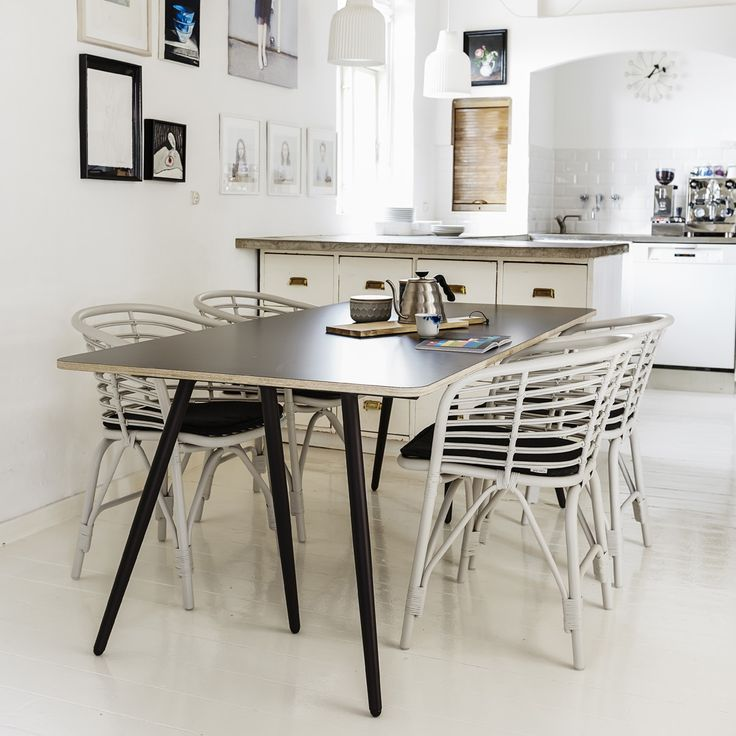 Blend dining chair, and turn dining table #canelineelements