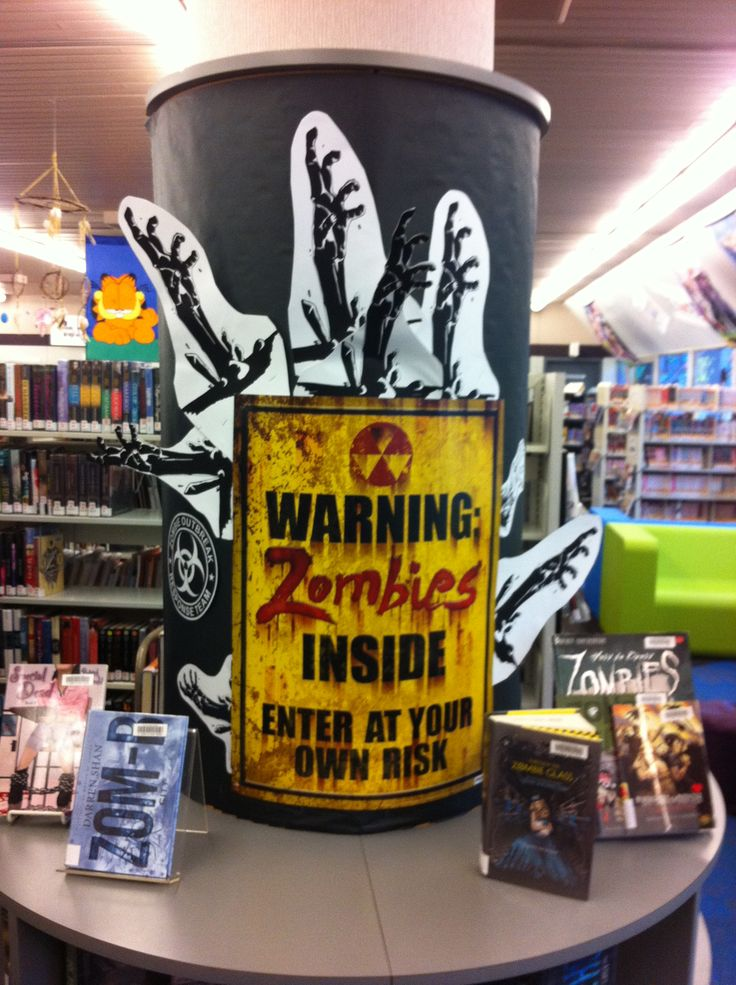 Zombie Book Display for Duluth Public Library Teen Space ...