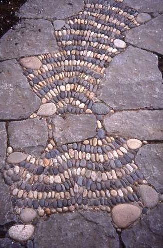 Stone Pathways Mosaic Garden Design - Love this pathway that Jeffrey Bale created leading to the front of my house!