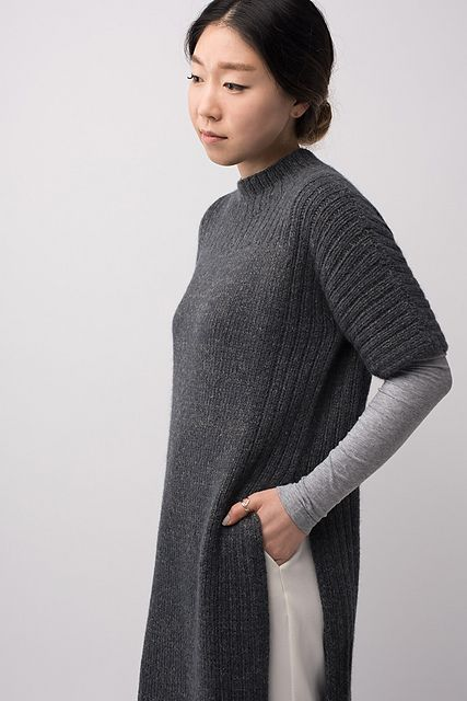 Shibui Knits FW15 | Truss by Shellie Anderson, knit with Shibui Maai and Pebble held together throughout.