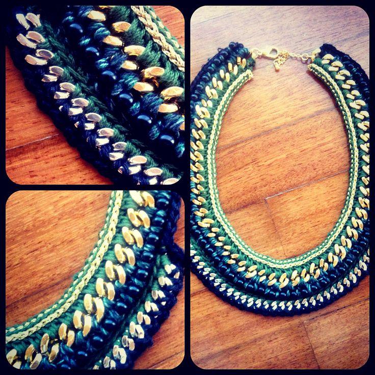 New diy handmade statement necklace !!!!