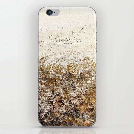 Dramatic gold and silver abstract iPhone and iPod Skins by Vinn Wong | Full collection vinnwong.com | Visit the shop or Pin it For Later!