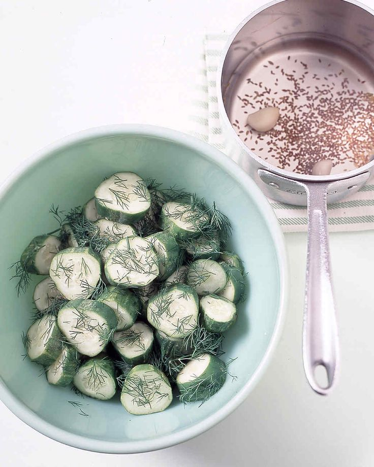 Pickling gives crisp, mellow vegetables spunky personality. These Kirby cucumbers -- a small, unwaxed type that
